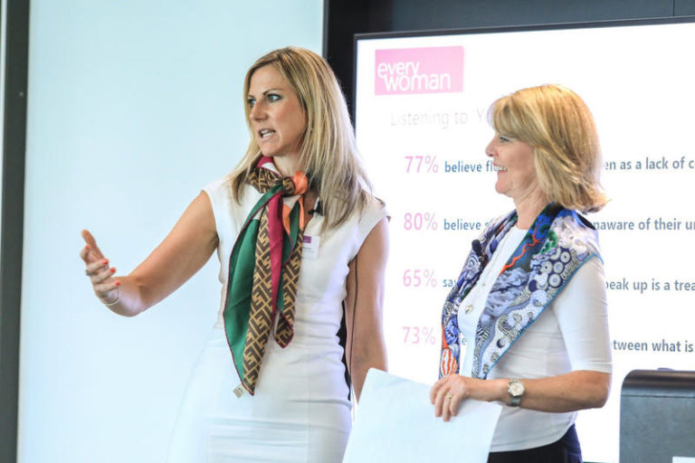 Natalie Wharton presenting at Everywoman in Insurance Forum