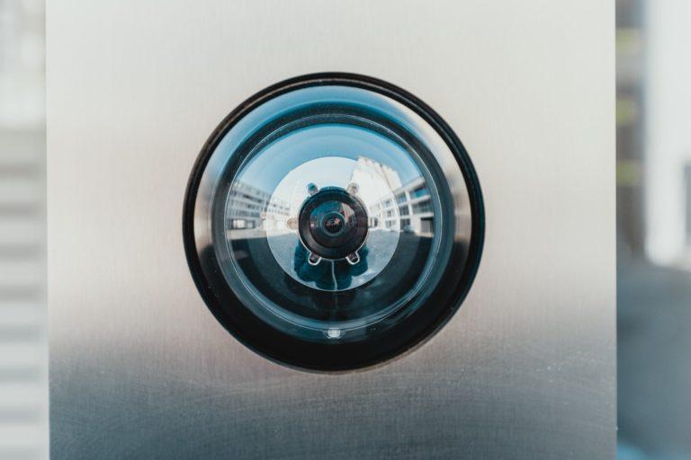 Camera lens reflection